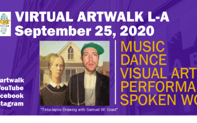 September 2020 virtual Art Walk LA