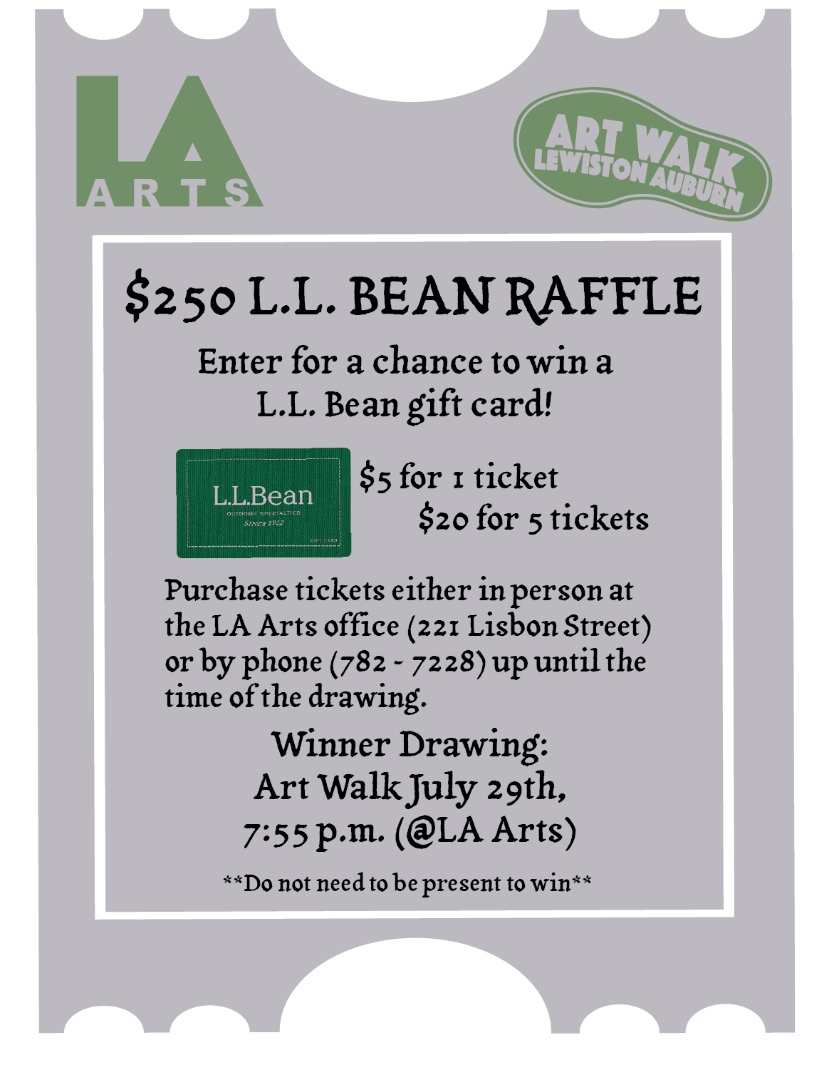 Enter To Win A 250 L L Bean Gift Certificate At July S Art Walk